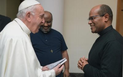 Our Eritrean Chaplain meets Pope Francis
