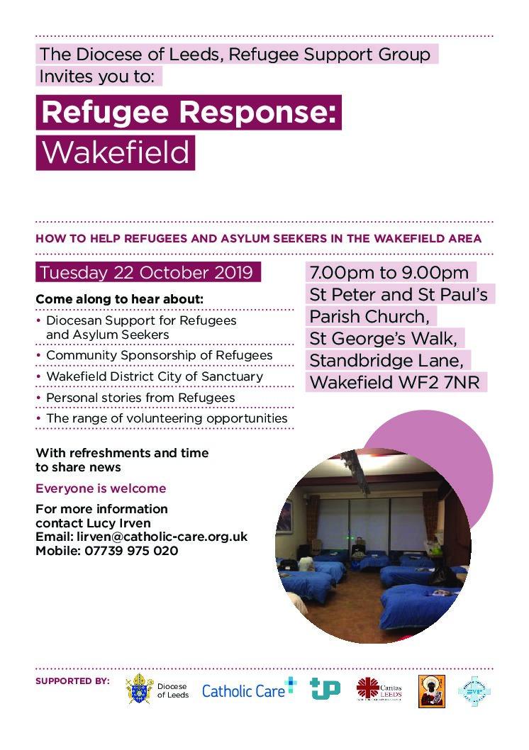 Refugee Response Wakefield – 22 October