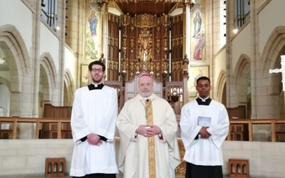Seminarians instituted as Lector and Acolyte