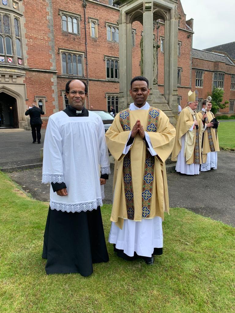 Congratulations to our Seminarian: Deacon Yemane Aradom!