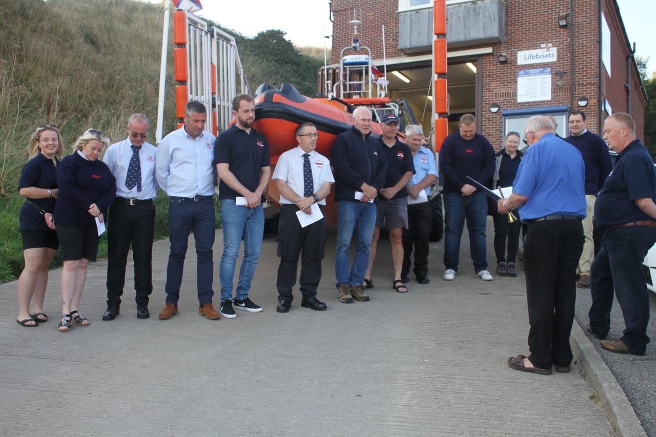 Fr Tony Blesses the Flamborough Lifeboat
